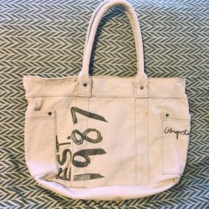 Aéropostal Light Blue Cotton Tote w/pockets